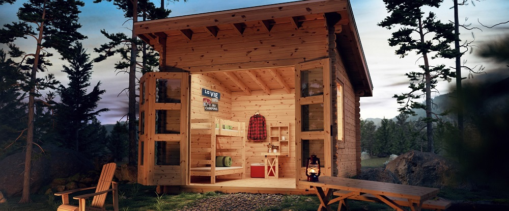 Transform your bunkie in an authentic rental cabin in the woods!